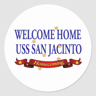 Welcome Home USS San Jacinto Classic Round Sticker