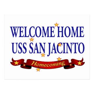 Welcome Home USS San Jacinto Postcard