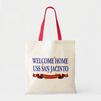 Welcome Home USS San Jacinto Tote Bag