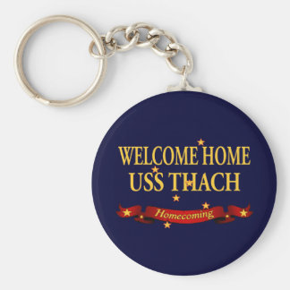 Welcome Home USS Thach Basic Round Button Keychain