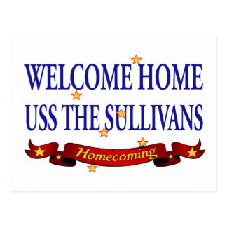 Welcome Home USS TheSullivans Postcard