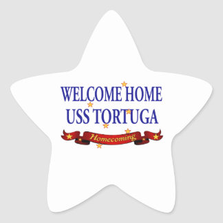 Welcome Home USS Tortuga Star Sticker