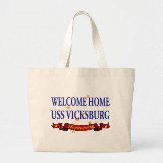 Welcome Home USS Vicksburg Tote Bag