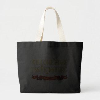 Welcome Home USS Vicksburg Canvas Bag