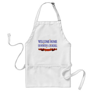 Welcome Home USS Winston S. Churchill Adult Apron