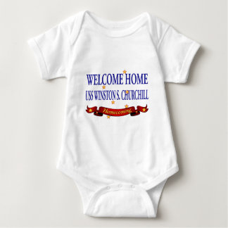 Welcome Home USS Winston S. Churchill Baby Bodysuit