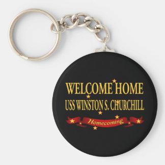 Welcome Home USS Winston S. Churchill Keychain