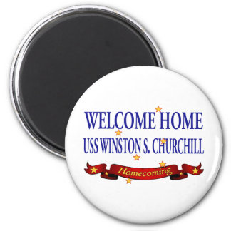 Welcome Home USS Winston S. Churchill Magnet