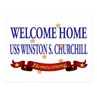 Welcome Home USS Winston S. Churchill Postcard