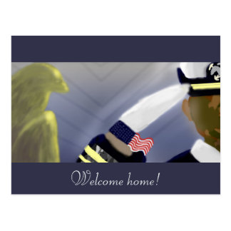 Welcome Home Veteran Postcard