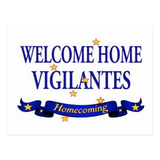 Welcome Home Vigilantes Postcard