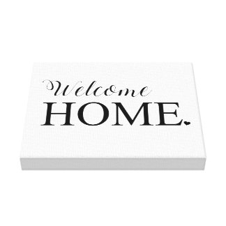 Welcome Home Wall Canvas