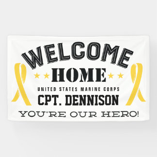 Welcome Home Yellow Ribbon Deployment Banner