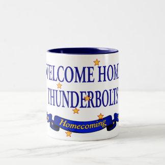 Welcome HomeThunderbolts Two-Tone Coffee Mug