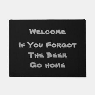 Welcome - If You Forgot the Beer - Doormat