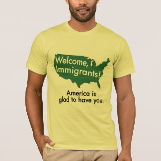 Welcome, Immigrants! USA Map T-Shirt
