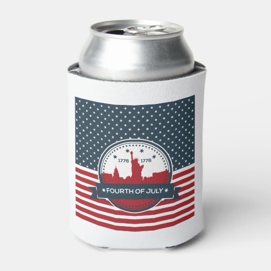 Welcome Independence July 4th Beverage Can Cooler