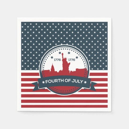 Welcome Independence July 4th Party Paper Napkins