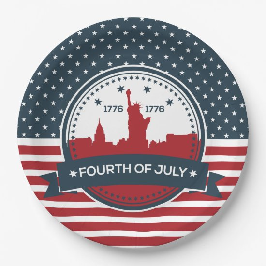 Welcome Independence July 4th Party Paper Plates