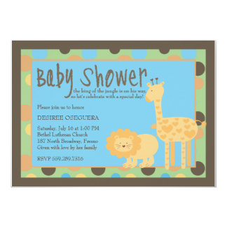 Welcome Jungle King Baby Shower Card