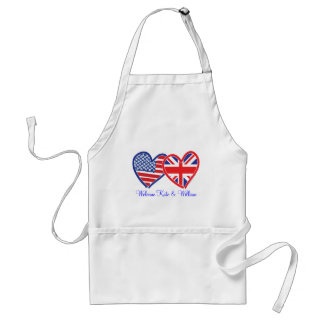 Welcome Kate & William/ Royal Wedding Adult Apron