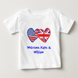 Welcome Kate & William/ Royal Wedding Baby T-Shirt