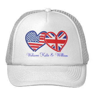 Welcome Kate & William/ Royal Wedding Trucker Hat