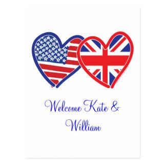 Welcome Kate & William/ Royal Wedding Postcard