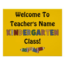 Welcome Kindergarten (customizable) Poster