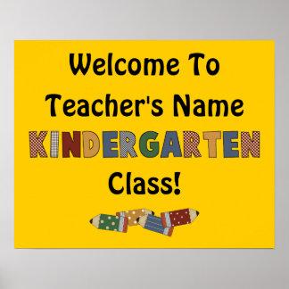 Welcome Kindergarten (customizable) Poster