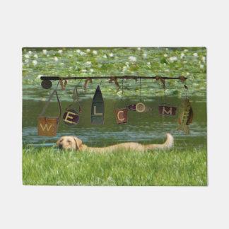 Welcome Labrador Retriever Swimming Doormat