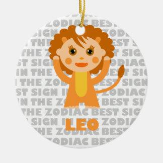 Welcome Leo Zodiac Baby! Ceramic Ornament
