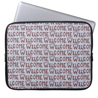 Welcome Letters Pattern Laptop Sleeve