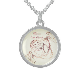 Welcome Little Cherub Sterling Silver Necklace