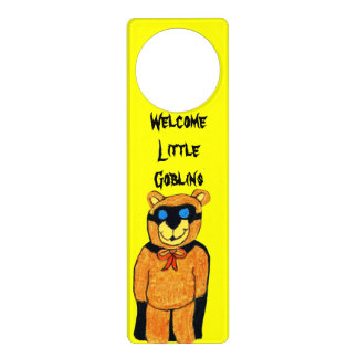 WELCOME LITTLE GOBLINS doorhanger Door Hangers