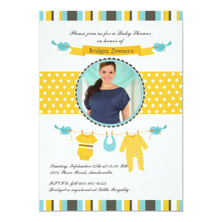 Welcome Little Man Photo Baby Shower Invitation