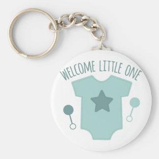 Welcome Little One Basic Round Button Keychain