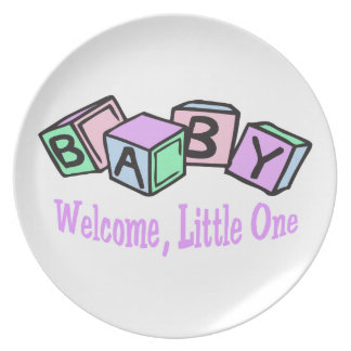 Welcome,Little One Plate