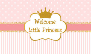 little princess baby shower pink banners signs zazzle