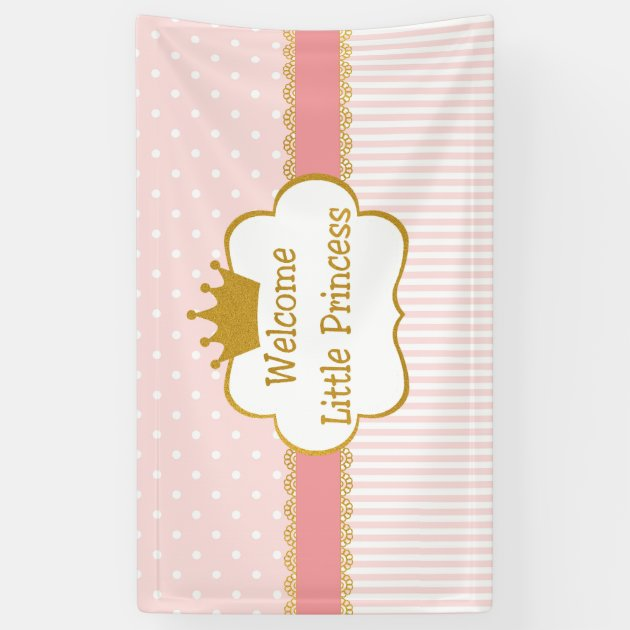 welcome baby girl banner