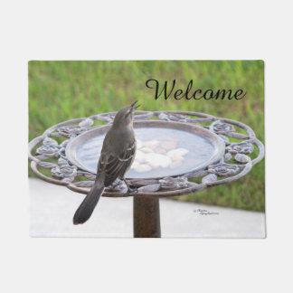 Welcome Mockingbird Birdbath Doormat