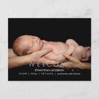 WELCOME Modern Birth Announcement