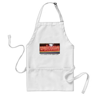 Welcome Neon Sign Adult Apron
