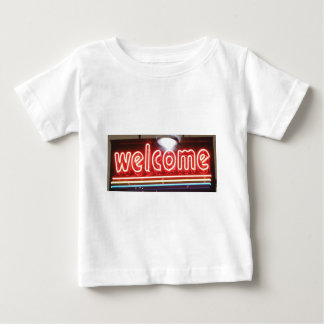 Welcome Neon Sign Baby T-Shirt