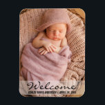 "Welcome New Baby Announcement Photo Magnet<br><div class=""desc"">Welcome New Baby Announcement Photo Magnet</div>"
