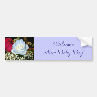 Welcome New Baby Boy! Bumper Sticker