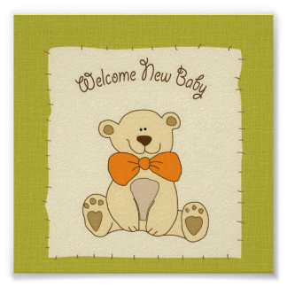 Welcome New Baby Poster