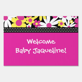 Welcome New Baby Yard Sign
