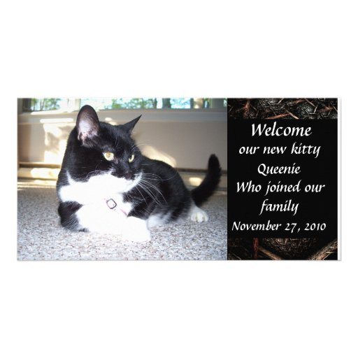 WELCOME NEW PET Photo Card Design