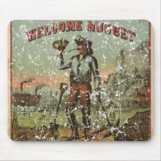 Welcome Nugget-1904 - distressed Mouse Pad
